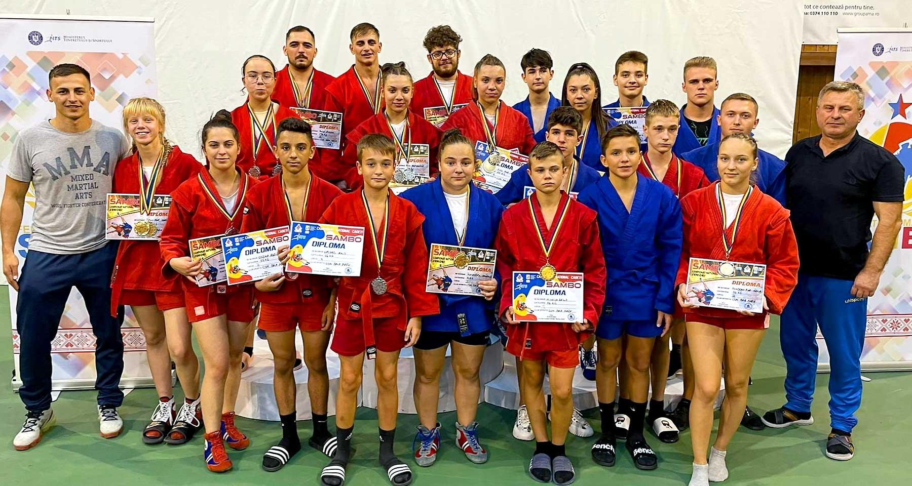 Sambo: CSM Baia Mare, 23 de medalii la C.N. Cadeți și Seniori